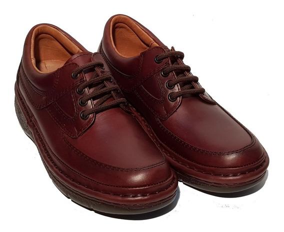 Zapatos Comfort Febo 1002 100% Cuero Marron Y Negro