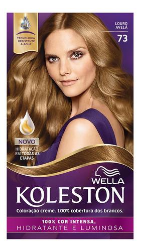 Coloração Creme Koleston Kit Louro Avelã 73