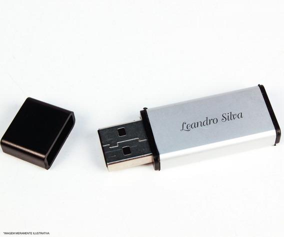 Pen Drive De Metal Cinza 4g Personalizado Com Gravação A Las