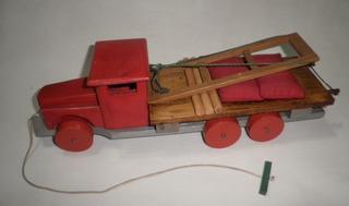 Juguete Antiguo Camión Madera Hurlingham 40s Distr Matarazzo