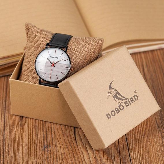 Relógio Unissex Aço Inox Q161 Analógico Bobo Bird