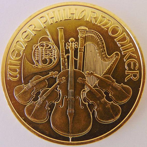 Moeda De Ouro Maciço 100 Euro Áustria Viena 1 Onça 31.1 Gr.