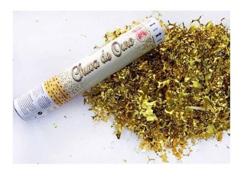 Lança Confete Chuva De Prata/ouro