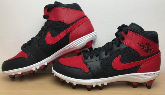 Cleats Tachos Jordan Retro 1 Td Mid Negro Rojo