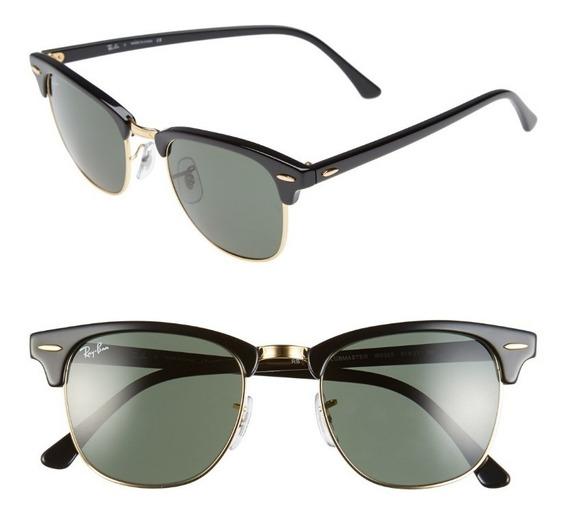 Óculos Ray-ban Clubmaster Preto Original Masculino Feminino