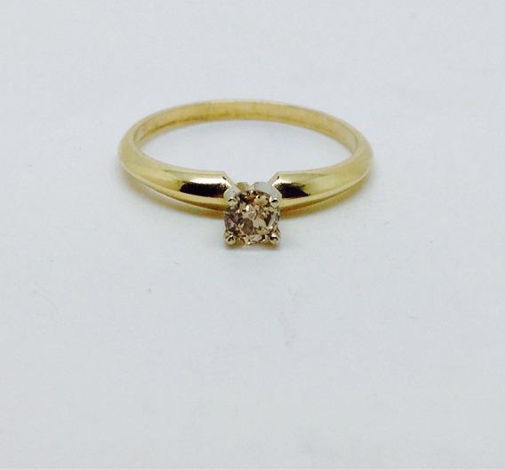 Anillo De Compromiso De Diamante En Oro 14 Quilates