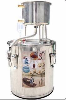 Kit Destilación Alambique Alcohol Aceite Etanol Acero 20l