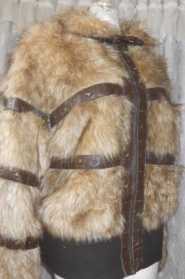 Talla Extra Chamarra Nude Moda Yeti O De Pelo T-42