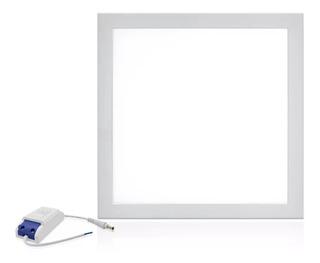 6 Placa Plafon De Embutir 12w Painel Led Quadrado Lum.bivolt