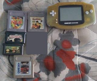 Game Boy Advance + 5 Jogos Funcionando