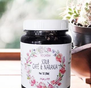 Exfoliante Anticelulitico De Cafe Y Naranja Artesanal 200ml