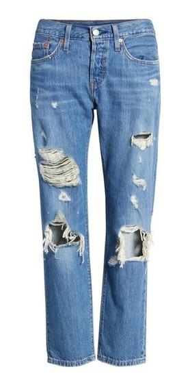 Calça Levi Strauss Jeans 501 Taper C/ Botões - Levis