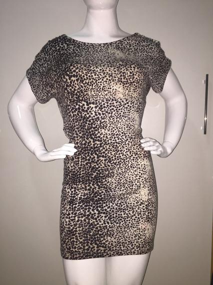 Vestido Oncinha Decote Amplo