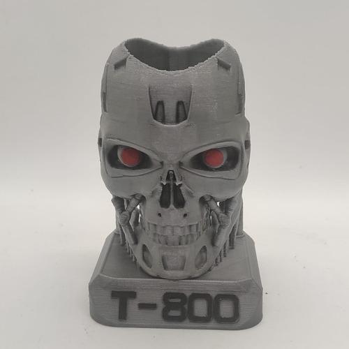 Lapicero De Terminator T800 Impreso En 3d