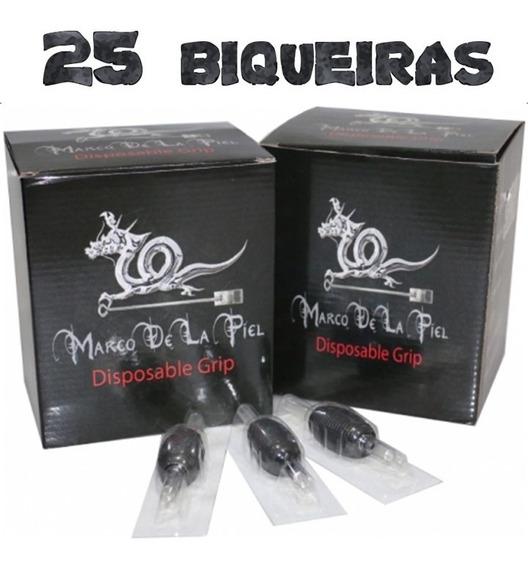 Kit 25 Biqueiras Descartáveis Mp 19mm Tatuagem Tattoo Caixa