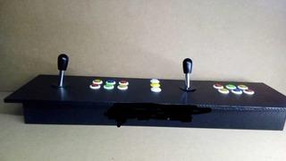 Tablero Arcade Doble Liso + Usb Con 8 Mil Juegos Para Pc