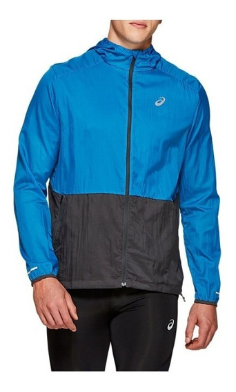 Campera Asics Packable Hombre Running Rompeviento C/capucha