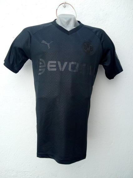 Jersey Borussia Dortmund Carbón Y Acero 110 Años All Black