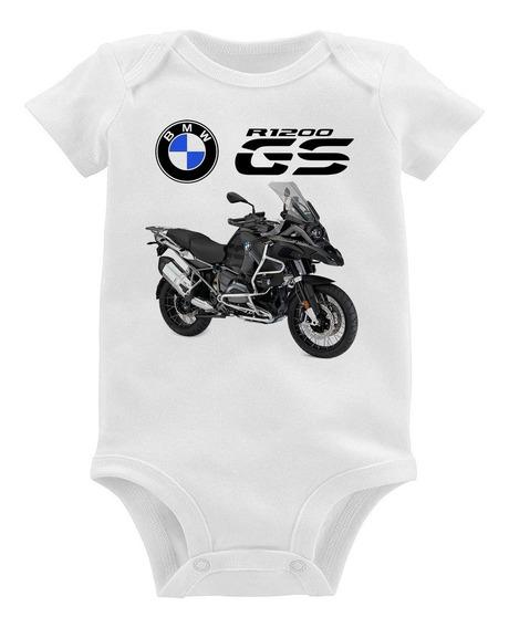 Body Bebê Moto Bmw R 1200 Gs Triplo Black