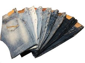 Kit 09 Calças Jeans Opera Rock Cintura Média Masculina T 42
