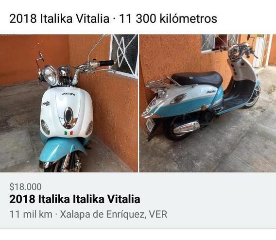 Italika 2018 Color Azul Con Blanco, 11 Mil Km Celu2282226064