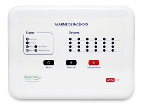 Kit Central Incêndio + Acionador+detect+audiovisual+30 Led