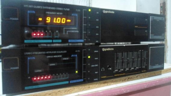 System Gradiente Amplificador + Turner + Toca Discos