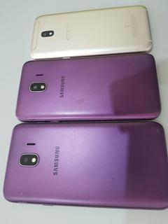 Lote Com 02 Samsung J4 E 01 J5 Pró Com Display Quebrado.