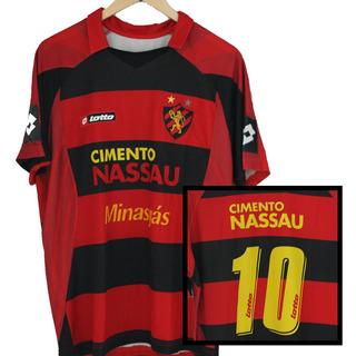 Camisa Lotto Sport Recife Copa Brasil 2008 Luciano Henrique