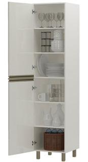 Armário De Cozinha Paneleiro 2 Portas 6 Prateleiras Off Whit
