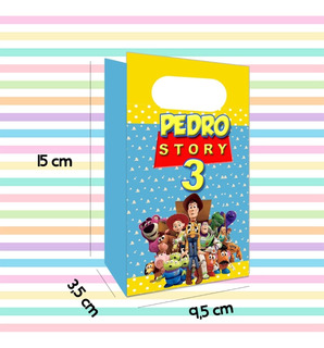 10 Sacolas Personalizadas Lembrancinha Toy Story