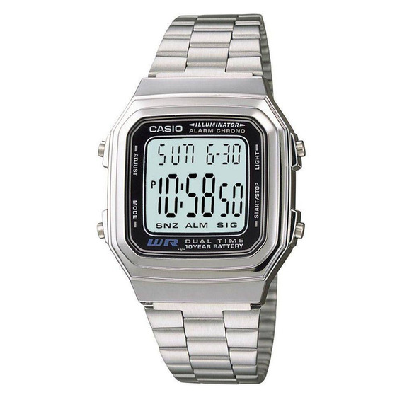 Relógio Feminino Digital Casio A178wa-1adf - Prata