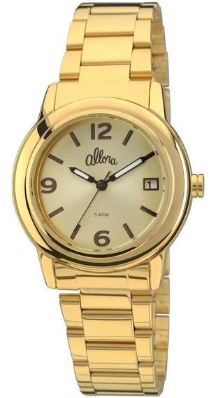 Relógio Feminino Analógico Al2115ae/4x Dourado De Vltrine
