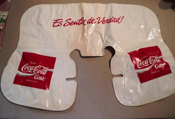 * Coca Cola Almohada Inflable De Plastico Para Viaje O Playa