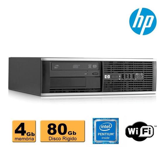 Pc Hp Compaq 6300 Pentium G2020 4gb Ddr3 Hd80 Leitor Wifi