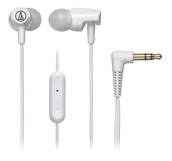 Fone De Ouvido C/ Mic Audio-technica In-ear - Ath-clr100iswh