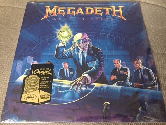 Lp Megadeth Rust In Peace 180gr Novo Lacrado Importado