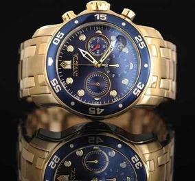 Relógio Invicta 0073 Pro Diver Original 21923 B Ouro 18k
