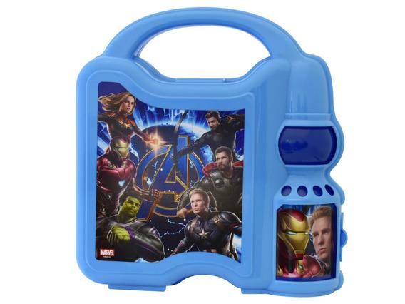 Lonchera Avengers Marvel Infantiles Botella Cilindro Agua Thor Iron Man Capitán America Hulk Capitana Marvel
