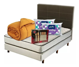 Combo Sommier Sonno 190 X 150 + Blanqueria + Respaldo Cuotas
