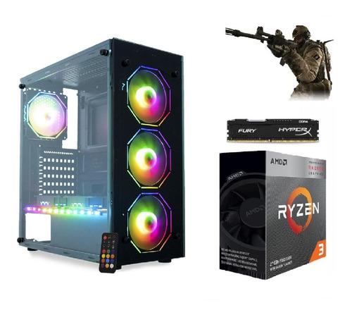 Pc Ryzen3 3200g Vega Granphis8+ssd 240gb+2*8gb Ram+400w+gab