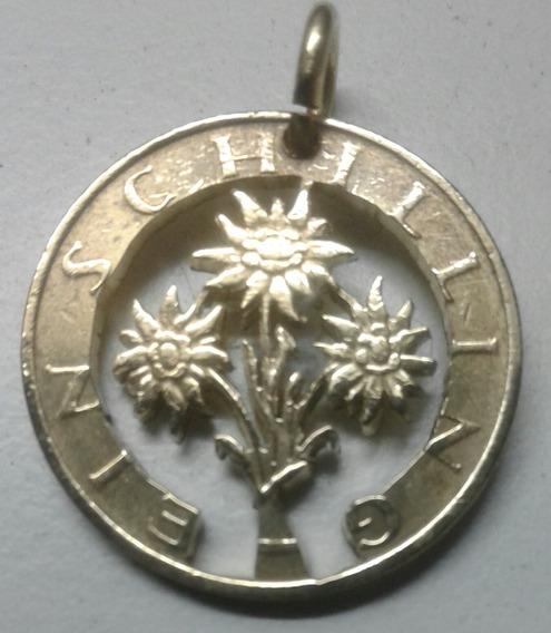Moneda De Austria , Calada A Mano Con La Flor Nacional A35