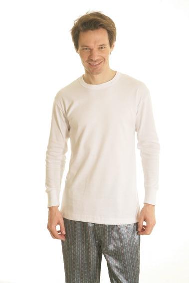 Camiseta Interlok Manga Larga Escote Redondo