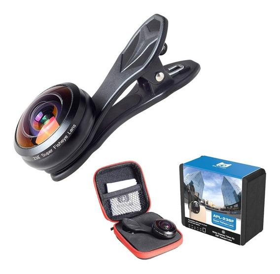 Lente Fisheye Pro 4k 238° Apexel P/ Celular E iPhone +nf