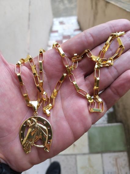 Cordão De Prata 925 Banhado A Ouro 24k