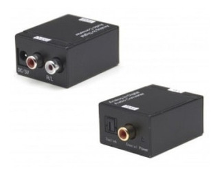 Conversor Audio Digital Optico A Rca + Cable Optico