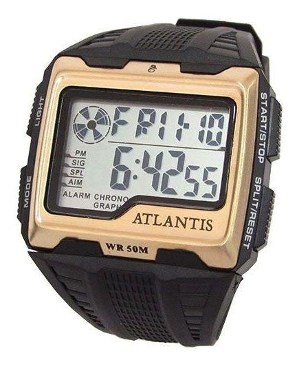Relogio Atlantis Masculino Digital A7472