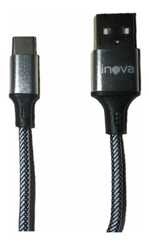 Cable Usb Tipo C 2 Metros Inova Android Carga Rápida Celular