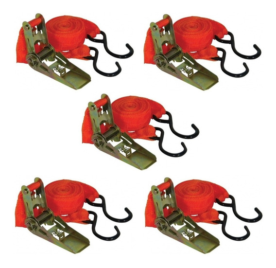 Kit 5 Catracas + Cintas/fita P Prender E Transportar Cargas
