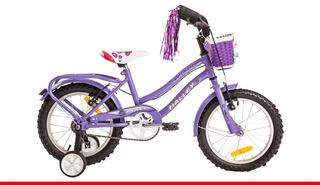 Bicicleta Playera Dama De Lujo Rodado 16 Halley Con Rueditas